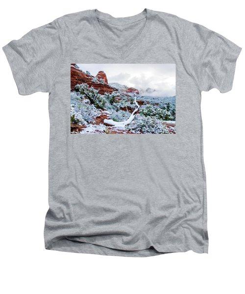 Snow 05-024 Men's V-Neck T-Shirt by Scott McAllister