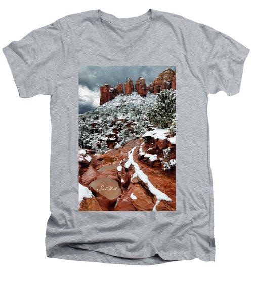 Snow 06-068 Men's V-Neck T-Shirt by Scott McAllister