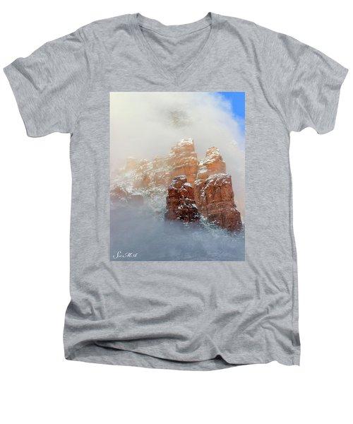 Snow 07-102 Men's V-Neck T-Shirt by Scott McAllister