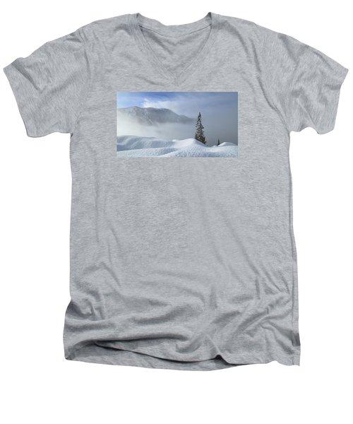 Snow And Silence Men's V-Neck T-Shirt by Lynn Hopwood
