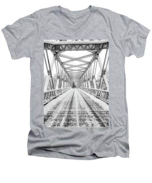 Snow Angles Men's V-Neck T-Shirt