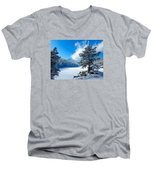 Snow At Beaver Brook Men's V-Neck T-Shirt