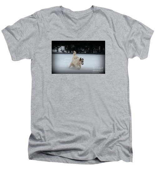 Snow Babies Men's V-Neck T-Shirt