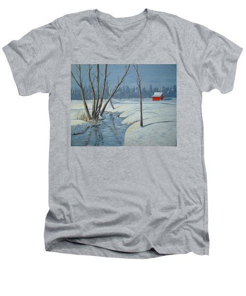 Snow Barn Men's V-Neck T-Shirt