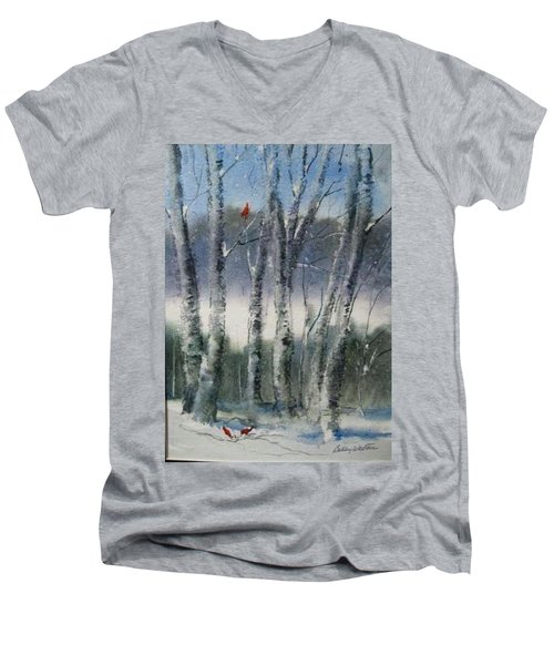 Snow Birch  Men's V-Neck T-Shirt
