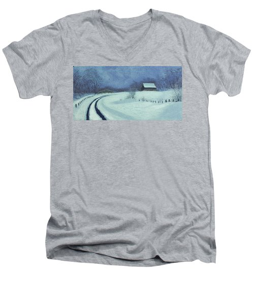 Snow Bound Men's V-Neck T-Shirt