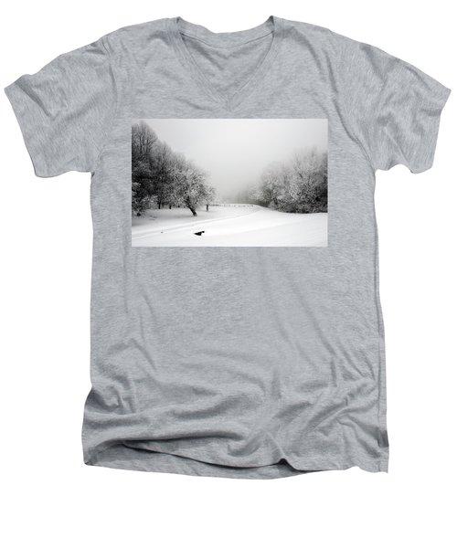 Snow Bound Men's V-Neck T-Shirt