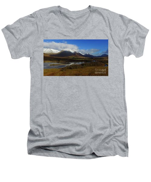 Snow Cap Mountains Men's V-Neck T-Shirt