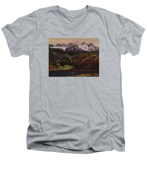 Snow Caped Mountain Men's V-Neck T-Shirt