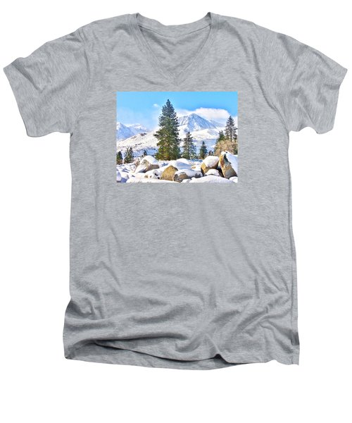 Snow Cool Men's V-Neck T-Shirt