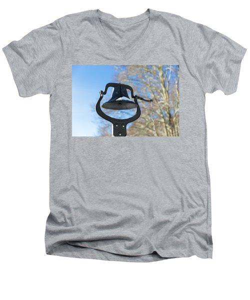 Snow Covered Bell Men's V-Neck T-Shirt