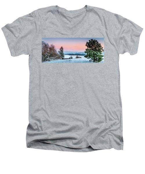 Snow Covered Valley Men's V-Neck T-Shirt