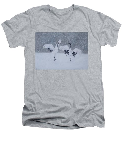 Snow Dancers Men's V-Neck T-Shirt