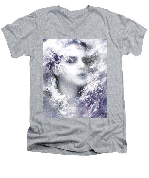 Snow Fairy  Men's V-Neck T-Shirt by Gun Legler