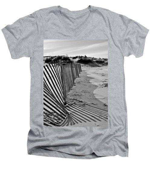 Snow Fence Men's V-Neck T-Shirt
