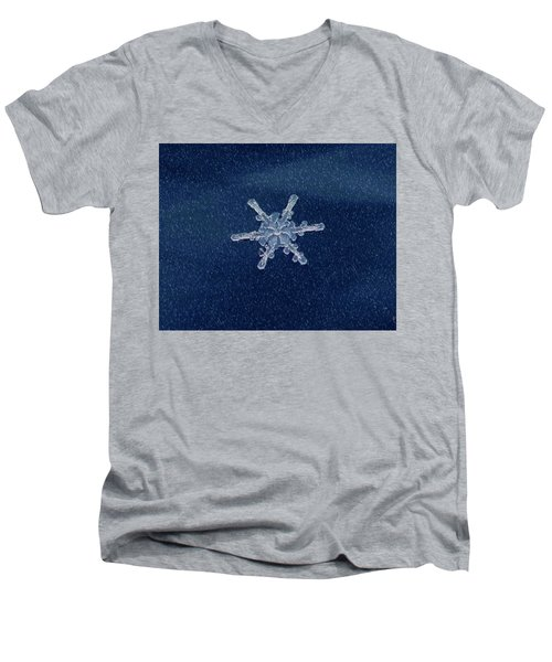 Snow Flake  Men's V-Neck T-Shirt
