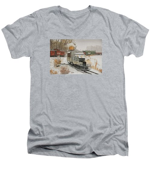 Men's V-Neck T-Shirt featuring the photograph Snow Goose by Ken Smith