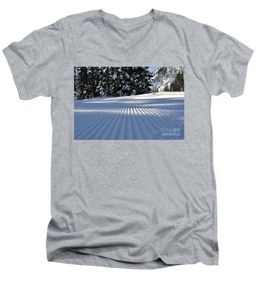 Snow Is Groovy Man Men's V-Neck T-Shirt