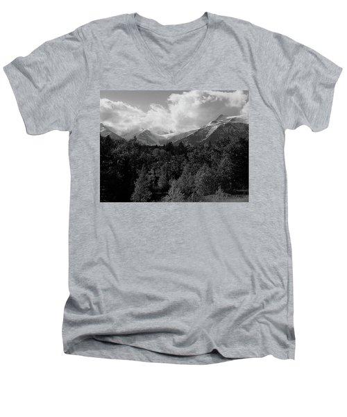 Snow On The Mountains Men's V-Neck T-Shirt