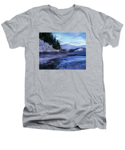 Snow On The Sand Men's V-Neck T-Shirt