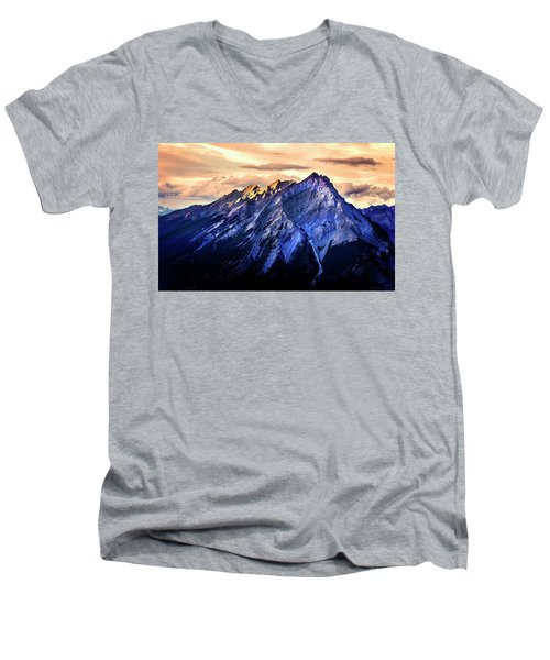 Men's V-Neck T-Shirt featuring the photograph Mount Cascade by John Poon