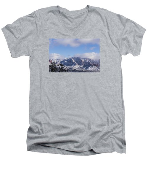 Snow Rim Men's V-Neck T-Shirt