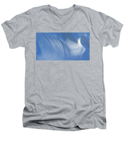 Snow Sculpted By The Wind Men's V-Neck T-Shirt