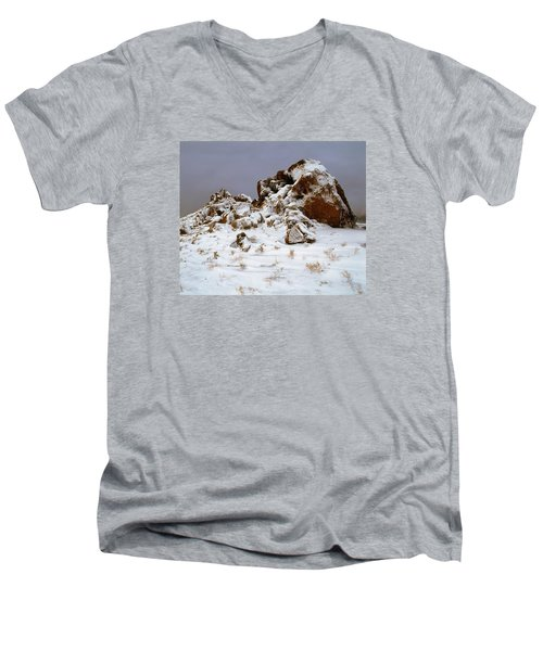 Snow Stones Men's V-Neck T-Shirt
