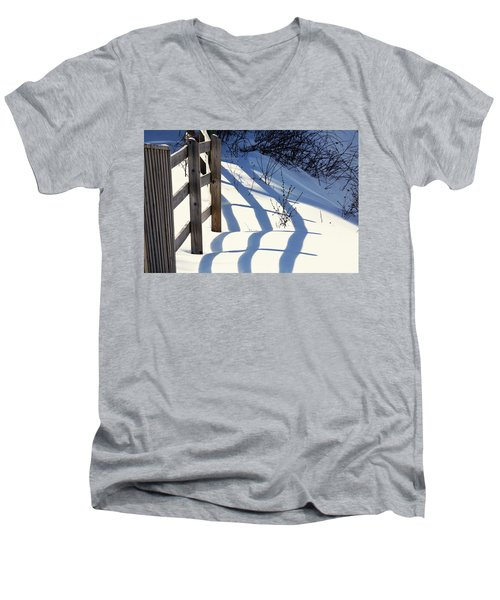 Snow, Sun And Shadows Men's V-Neck T-Shirt