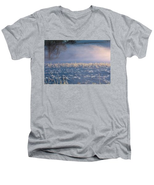 Snow Waves Men's V-Neck T-Shirt