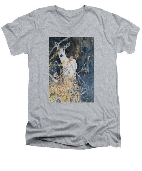 Snow White Men's V-Neck T-Shirt by Christine Lathrop