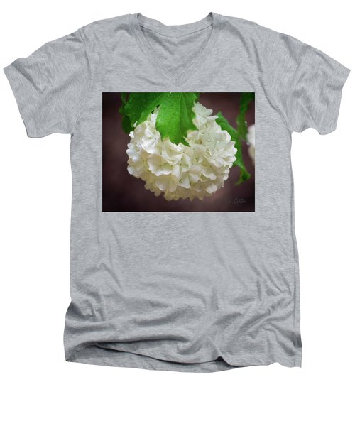 Snowball Bloom Men's V-Neck T-Shirt