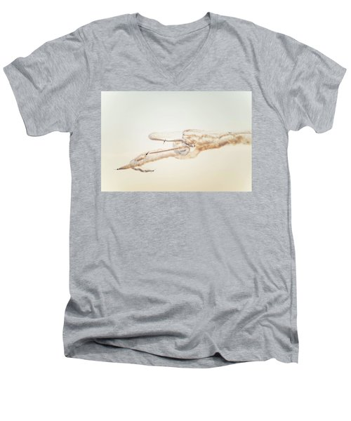 Snowbirds Over English Bay Men's V-Neck T-Shirt