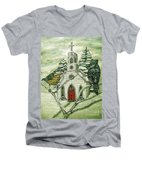 Snowbirds Visit St. Paul Men's V-Neck T-Shirt