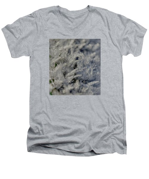 Snowchrystals  Men's V-Neck T-Shirt by Leif Sohlman