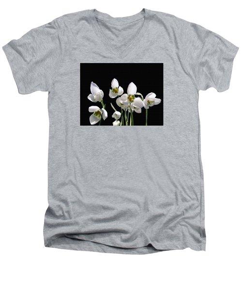 Snowdrop Flowers Men's V-Neck T-Shirt