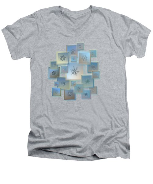 Snowflake Collage - Bright Crystals 2012-2014 Men's V-Neck T-Shirt
