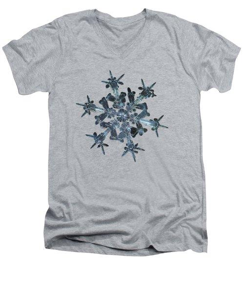 Snowflake Photo - Starlight II Men's V-Neck T-Shirt