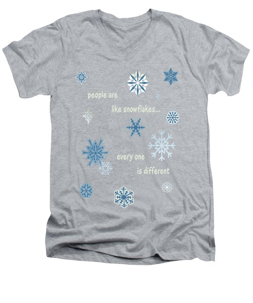 Snowflakes 5 Men's V-Neck T-Shirt