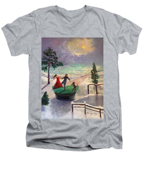 Snowglobe Men's V-Neck T-Shirt
