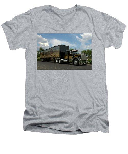 Snowmans Dream Replica Semi Trruck Men's V-Neck T-Shirt
