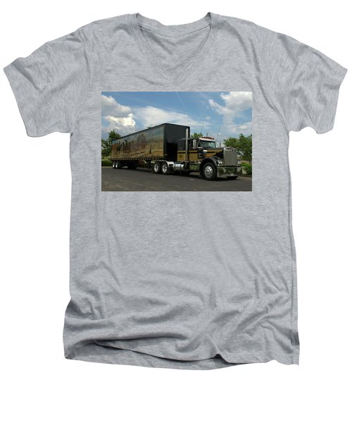 Snowmans Dream Replica Semi Trruck Men's V-Neck T-Shirt