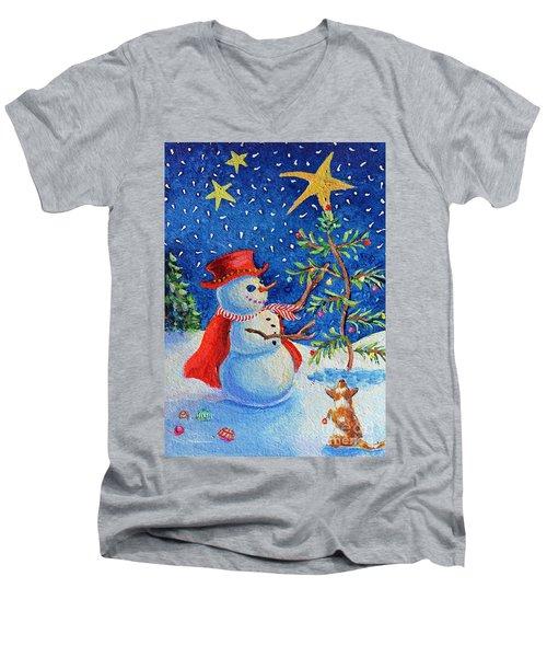 Snowmas Christmas Men's V-Neck T-Shirt