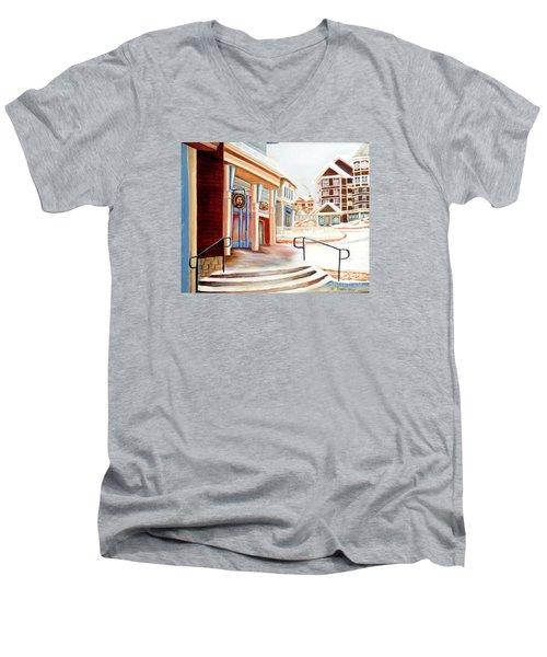 Snowshoe Village Shops Men's V-Neck T-Shirt