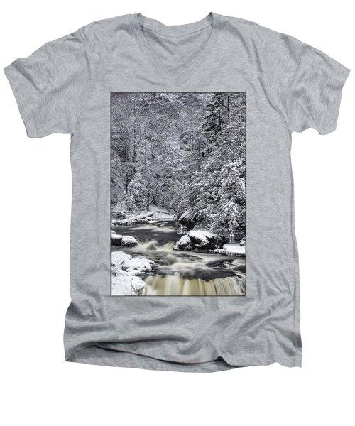 Snowy Blackwater Men's V-Neck T-Shirt