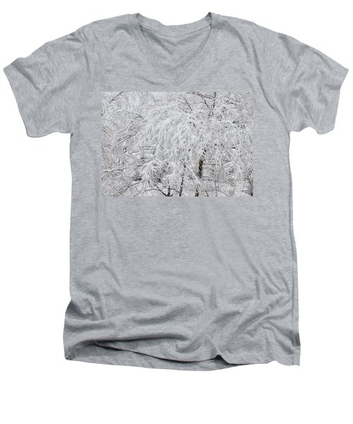 Snowy Branches Men's V-Neck T-Shirt