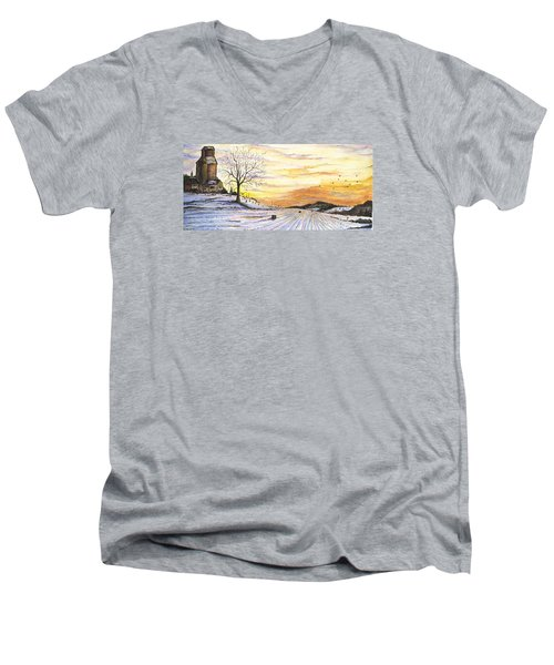 Snowy Farm Men's V-Neck T-Shirt