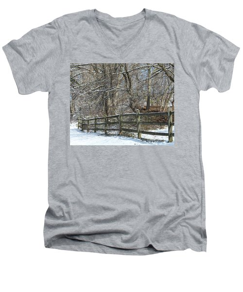 Winter Fence Men's V-Neck T-Shirt