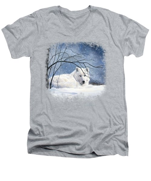 Snowy Men's V-Neck T-Shirt