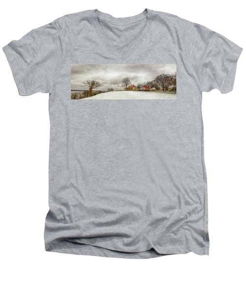 Snowy Mt Vernon Men's V-Neck T-Shirt
